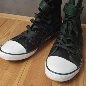Zara Shoes - Zara High Top Sneakers in Hunter Green size 12
